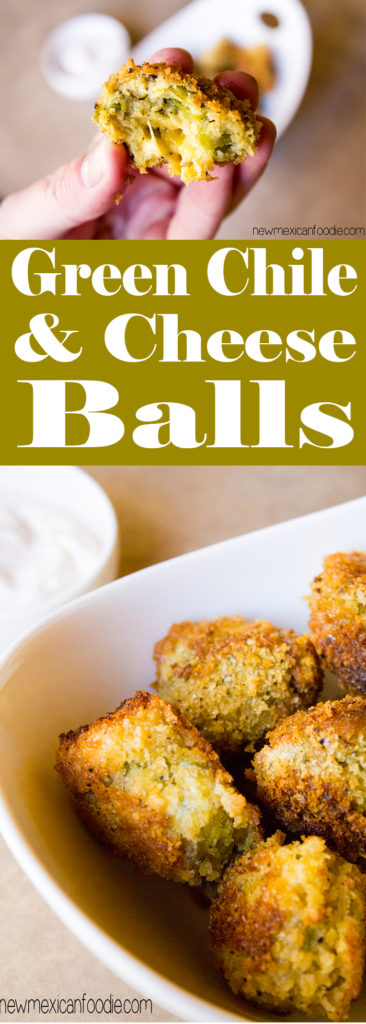 Green Chile and Cheese Appetizer Balls   NewMexicanFoodie.com