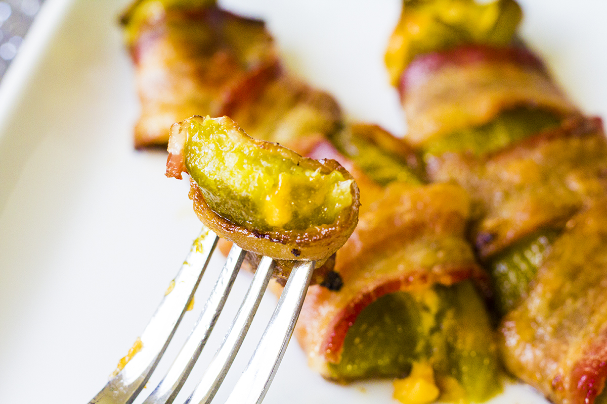 Bacon Wrapped Chile Rellenos