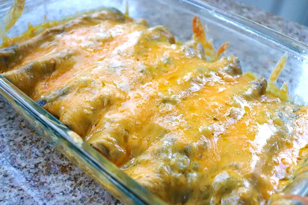 Blue Corn Green Chile Chicken Enchiladas
