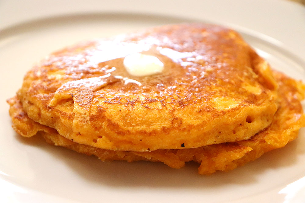New Mexican Pancakes with Red Chile