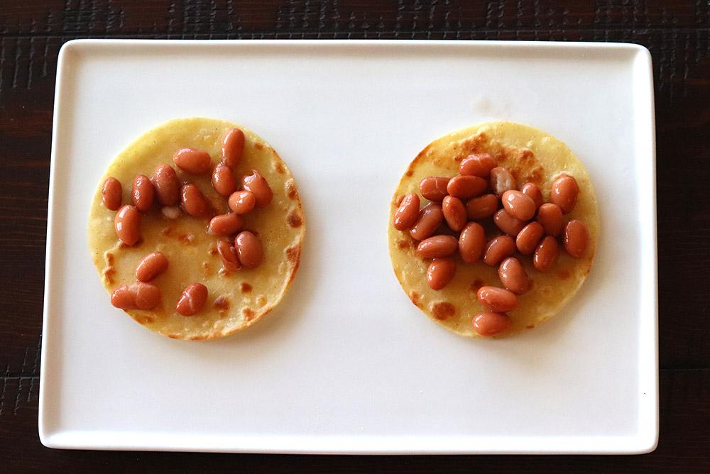 New Mexican Huevos Rancheros with Pinto Beans