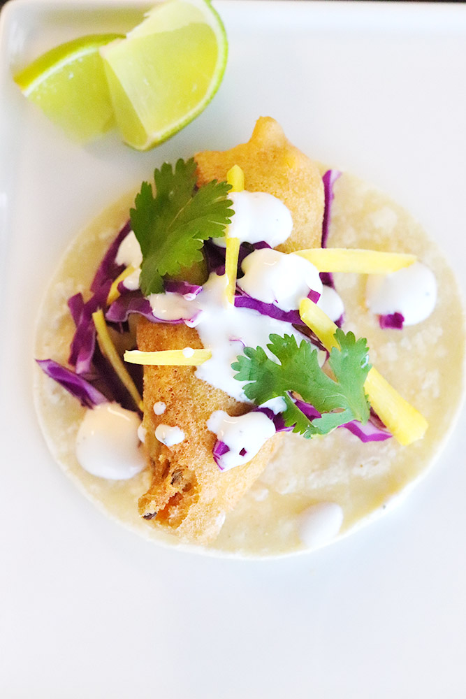 Beautiful chile relleno tacos