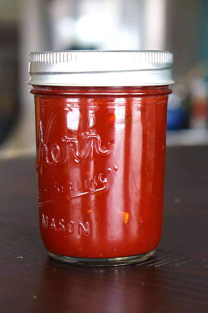 Red Chile Sauce for Pozole