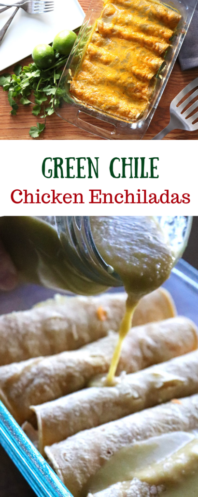 How to make Green Chile Chicken Enchiladas - New Mexican Style - with Hatch green chile peppers
