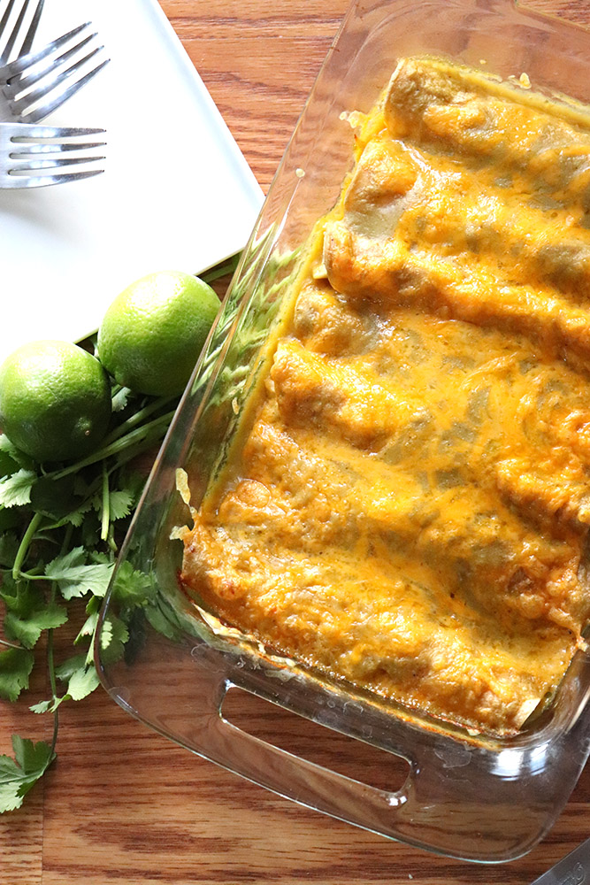 New Mexican Green Chile Chicken Enchiladas