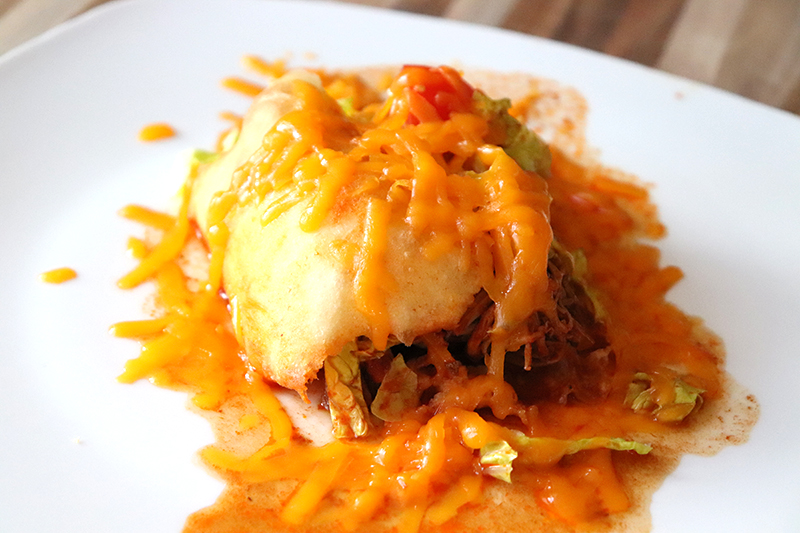 Stuffed Sopapillas {filled with Carne Adovada}