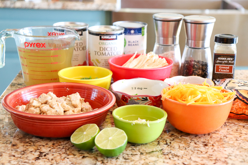 Ingredients for Chicken Tortilla Soup