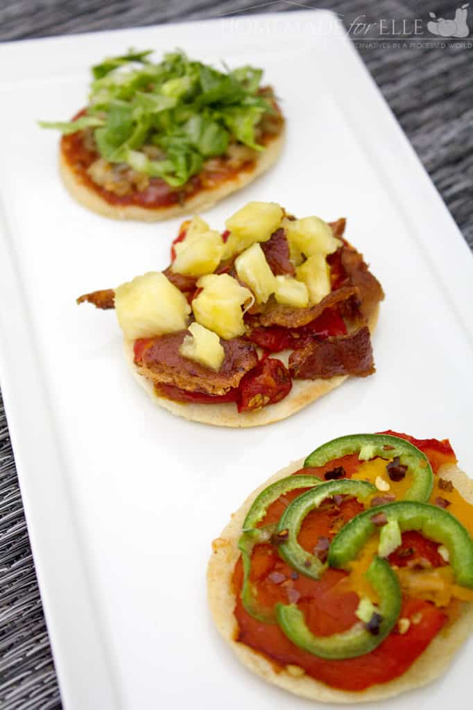 Homemade Corn Tortilla appetizers with spicy New Mexican toppings