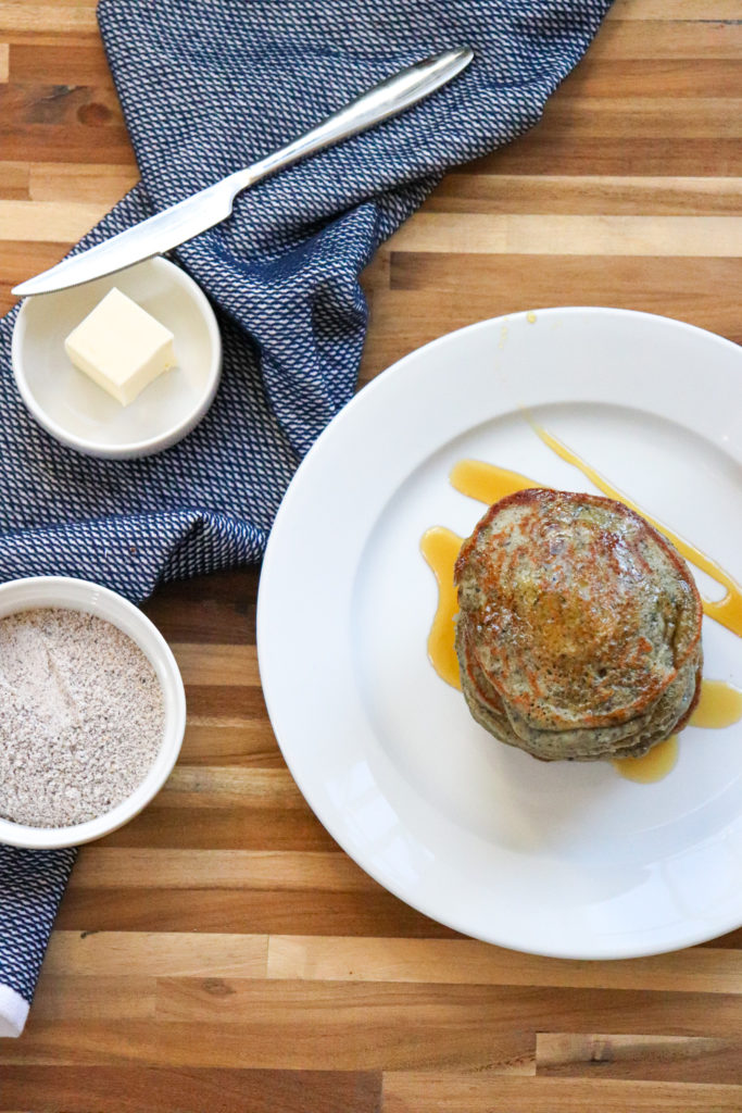 New Mexican Blue Corn Pancakes