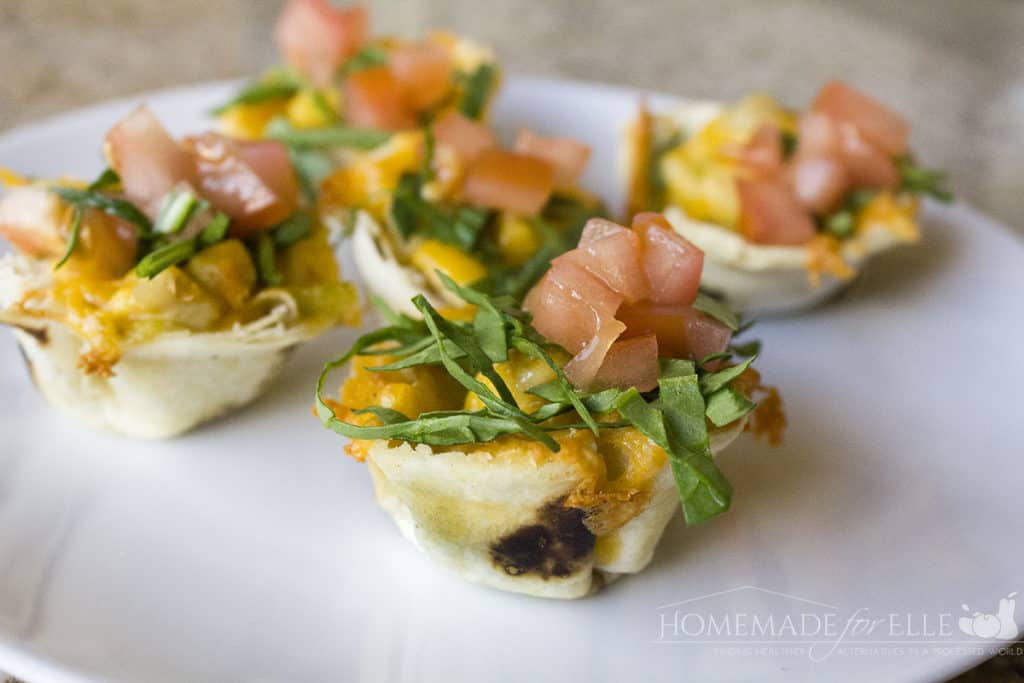 Green Chile Chicken Enchilada Bites